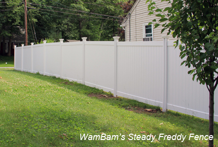 Sloped Install Vinyl Fence