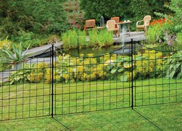 Semi-Permanent Black Metal Zippity Garden Fence (25in Tall)