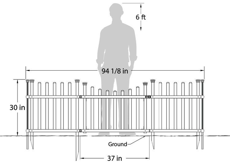 Pet Or Garden Enclosure Vinyl Fence Kit W Gate