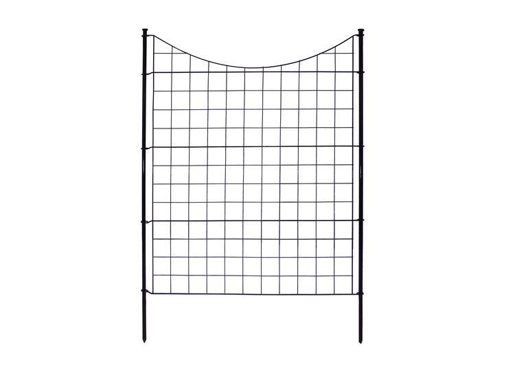42in Tall Black Metal Zippity Garden Fence