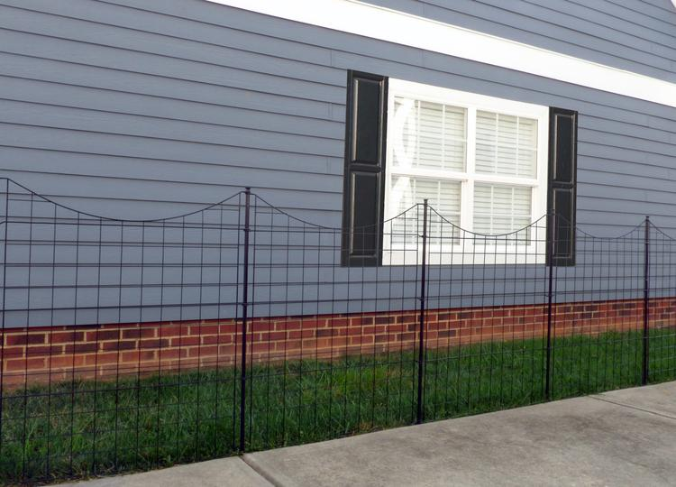 Semi Permanent Black Metal Zippity Garden Fence (42in Tall)