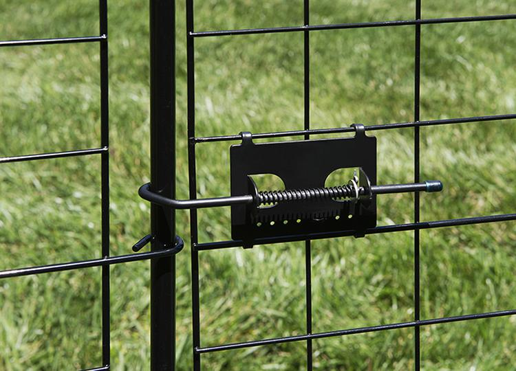41in Tall Zippity Black Metal Garden Fence Gate