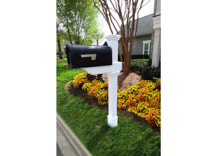 Classica mailbox post w no dig steel pipe anchor kit solutioingenieria Images