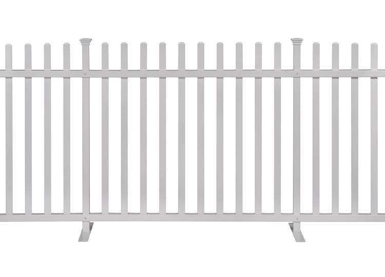 Zippity Lightweight Portable Vinyl Fence Kit 42in H X 92in W