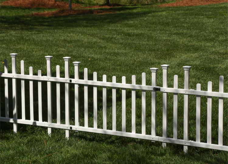 Madison Vinyl Gate Kit With Fence Wings