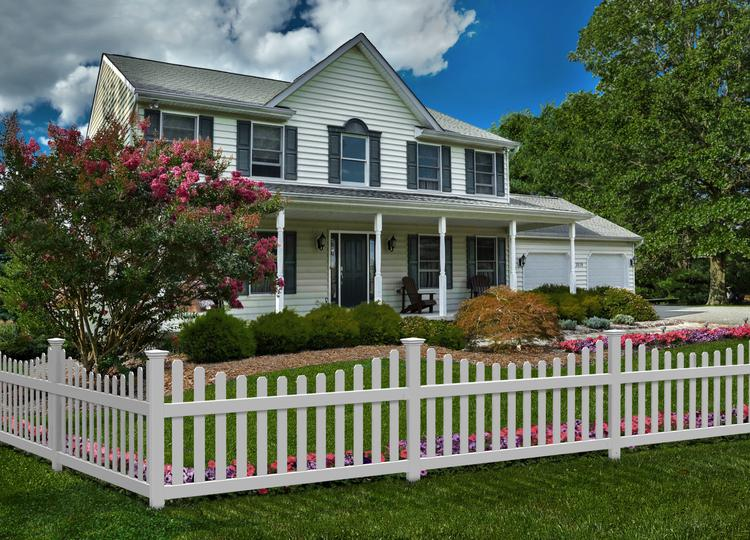 Permanent All American Vinyl Picket Fence With No Dig Post